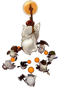 Moogles from Final Fantasy XIV: A Realm Reborn