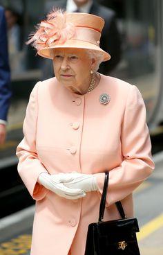 Queen Elizabeth II Photos Photos - The Queen & Duke Of Edinburgh Mark the 175th Anniversary of the First Train Journey By a British Monarch - Zimbio