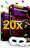 Bitdefender verlost 20x die Sicherheitssoftware Bitdefender Total Security 1 Jahres Lizenz für PC's, die bei AV-Test Testsieger geworden ist.