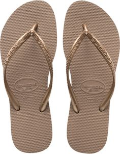 d5aedeb6ffb3 Rose Gold Slim Womens Flip Flop The first pair of Havaianas was created in  with a design inspired by traditional rice straw Japanese sandals (h.