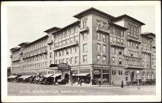 Postcard Berkeley Kalifornien, Hotel Whitecotton, Sideview