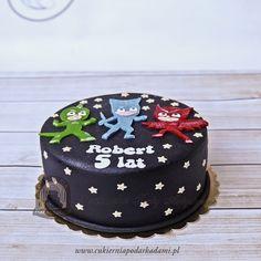 81BD. Tort Pidżamersi. PJ Masks cake. Boy Birthday Parties, 4th Birthday, Pj Masks Birthday Cake, Fireman Sam, Mask Party, Cakes For Boys, Birthdays, Blog, Ideas