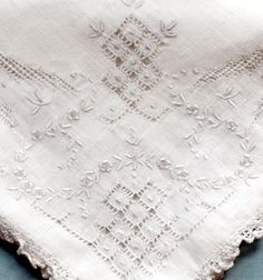Handmade Antique French Net Lace Victorian