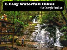Family friendly waterfall hikes. North Georgia Mountains - Atlanta