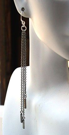 Three Long Chains - Earrings