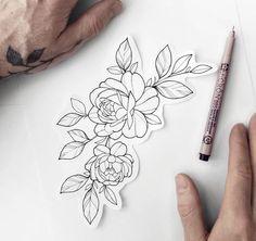 New Flash (Taken) Simple Rose ⠀⠀⠀⠀⠀⠀⠀⠀⠀ Do you like bigger or… – diy tattoo images - flower tattoos Tatoo Floral, Simple Flower Tattoo, Floral Tattoo Design, Flower Tattoo Designs, Hip Tattoo Flowers, Peony Flower Tattoos, Flower Tattoo Drawings, Simple Tattoo Designs, Floral Tattoos