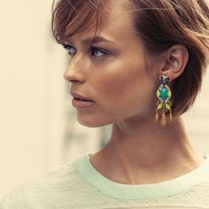 Say hello to the Jardin Chandeliers. Wear them as studs or statement earrings http://www.stelladot.com/Elizabeth