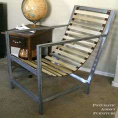 Wood and Leather Sling Chair | Do It Yourself Home Projects from Ana White