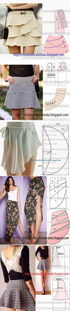 La cosa de estilo: Cosemos las faldas. Los patrones.