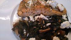 Fácil y Sano : Salmon con Acelgas y Requeson al horno