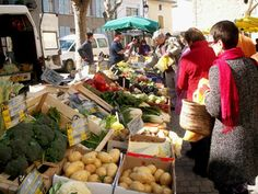 french market France | Local market, Olonzac, France