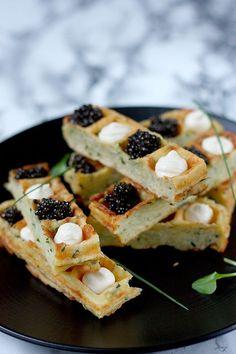 Finger de gaufre, crème et caviar