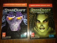 2 PC Starcraft Prima's Official Strategy Guide Expansion Set Brood War Game NICE…