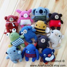 Little Amigurumi Animals crochet pattern  PDF by anapaulaoli, $7.00