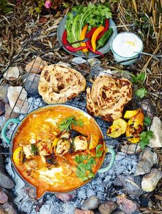 Jamie Oliver's chicken tikka massala and paratha bread, from his Comfort Food series