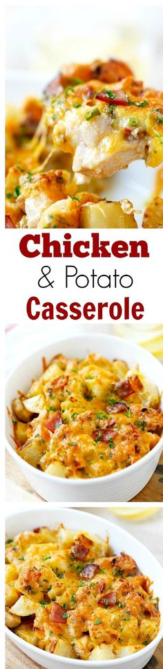 Baked Chicken and Potato Casserole - 12 Mouthwatering Chicken Casserole Recipes that Will Make You Swoon | GleamItUp