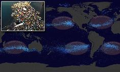 Nasa animation shows how 'garbage islands' have taken over the seas | Daily Mail Online
