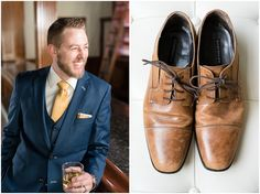 This elegant navy and gold Talia Event Center wedding brought together some of the best wedding vendors in Utah to create a wedding to inspire. Navy Groom, Groom And Groomsmen, Brown Leather Shoes, Brown Shoe, Grooms Party, Wedding Groom, Tuxedo Wedding, Groom Pictures, Utah Wedding Photographers
