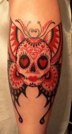 Or you can make it uniquely yours. | 41 Amazing Sugar Skull Tattoos To Celebrate Día De Los Muertos