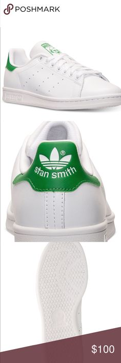 Adidas green stan smith for women. New With box. Size 7.5, sold out almost everywhere in this size. New with box adidas Shoes Sneakers