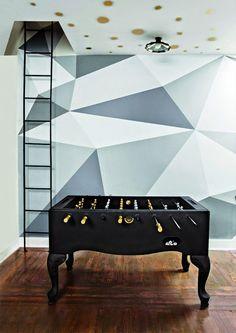 cuarto-de-jugar-pared-motivos-geométricos-tonos-grises