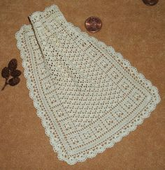 Dollhouse Miniature Victorian Clusters and Lace Afghan CUSTOM ORDER