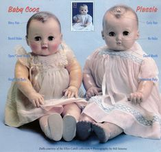 Ideal Toys Co. 1940s dolls: Baby Coos, and Baby Plassie. My favorite dolls were Baby dolls.