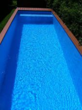nice Architect Turns Dumpster into Family Swimming Pool Discover how to make a pool without spending a fortune! In summer, there is nothing better to cool a pool. The problem is: the pools are very expensi. Pool Diy, Diy Swimming Pool, Small Backyard Pools, Dumpster Pool, Dumpster Diving, Swimming Pool Photography, Shipping Container Pool, Shipping Containers, Pool Images
