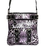 Sam Moon Leopard Print Purse