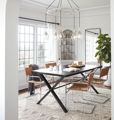 Strategies for The Best Minimalist Dining Room Decor Ideas That You Can Use Starting Today - kindledesignhome Dining Room Design, Dining Room Furniture, Dining Rooms, Dining Sets, Furniture Decor, Dining Chairs, Minimalist Dining Room, Ikea, 5 Light Chandelier