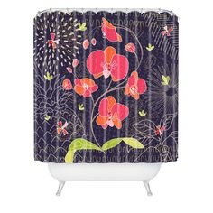 Kerrie Satava Orchid Bloom Shower Curtain | DENY Designs Home Accessories