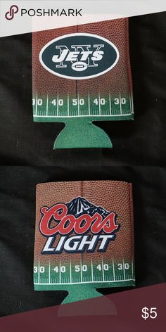 Coors Light Jets Koozie - New 🆕 Brand new, never used, no damage. Bundle this item with something else!   👍 Smoke-free, pet-free household.   🚫 No trades/swaps!  🚫 No holds!  🚫 No low-balling!  🚫 No PayPal!   ✔ Reasonable offers welcomed! Please use the offer button so I know you are serious about the item! I will not respond to price negotiations via comments.  ✔ I love bundling! Not only will you get ONE shipping fee, I will also discount your combined total! Please ask me in the…