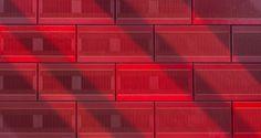 Ecole des Mines de Nancy, France Interior elements with slots for noise protection  #NBK, #terracotta, #TERRART, #red