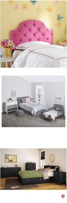 TargetShop Target for kids headboard you will love at great low… for low lights, … Small Room Bedroom, Room Decor Bedroom, Girls Bedroom, Bedrooms, Cute Bedroom Ideas, Girl Bedroom Designs, Little Girl Rooms, Dream Rooms, My New Room