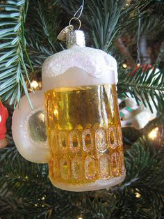 It's a beer and it's a Christmas Tree Ornament. How awesome is that!