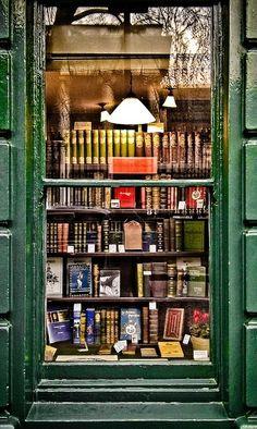 A bookshop on Bloomsbury Street, London. by sasha
