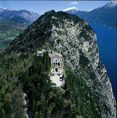 Founded by Touring Club Italiano, the Orange Flag is a seal of excellence awarded to towns and villages Lake Garda, Beautiful Scenery, Great Places, Madonna, Touring, Mount Rushmore, Places To Visit, Flag, Europe