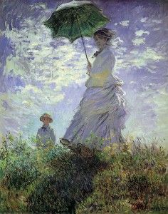 Renoir's Woman with a Parasol and Small Child on a Sunlit Hillside, 1874