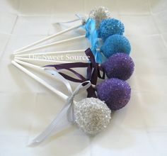 Cake Pops: Wedding Cake Pops Made to Order with High Quality Ingredients. via Etsy.