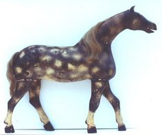 Dapple Grey Horse  Carved wood, full figure with superb form.