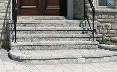 Ortana can be used for single and double-sided walls, driveway borders, steps, pillars and embankments. Save both time and money on your outdoor project with Ortana's exclusive split-tongue design and hand notches for vertical or set back installation. Driveway Border, Landscape Pavers, Front Entrances, Outdoor Projects, Brick, Stairs, Walls, Money, Kitchen