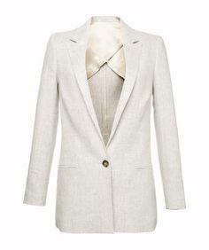 Colbert herbgarden - Herbgarden is een musthave item deze zomer, want het colbert is zowel gekleed als casual te dragen. Het colbert is halfgevoerd waardoor deze heerlijk luchtig aanvoelt. Het lange, rechte silhouet cre�ert een nonchalant gevoel. Combineer Herbgarden met matching broek Caramello en een luchtige blouse voor een zomerse powerwoman look.