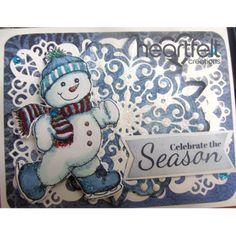 Gallery | Blue Skating Snowman And Snowflake - Heartfelt Creations