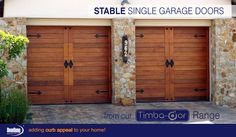 Don't be fooled! These are Stable Style sectional overhead garage doors from our Timba-dor™ range. www.doorzone.co.za