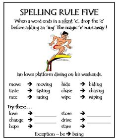 English Spelling Rule 5