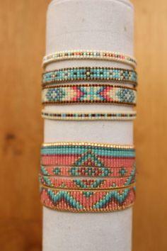 Resultado de imagen de patrones pulsera mariposas de miyuki