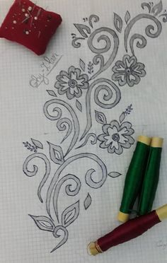 Border Embroidery Designs, Embroidery Patterns Free, Silk Ribbon Embroidery, Beaded Embroidery, Embroidery Stitches, Stitch Patterns, Crochet Shawl Diagram, Motifs Perler, Beaded Banners