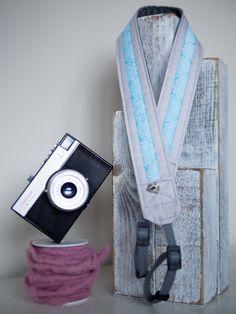delikatny pastelowy pasek do aparatu, camera strap