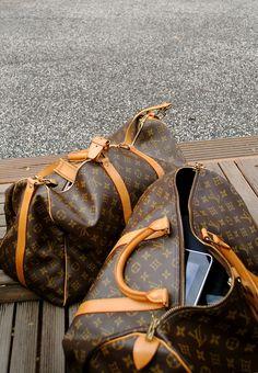 Louis Vuitton duffles. Need to get some of these. #DesignerHandbagsLove#COM