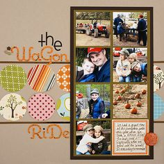 Make a Quick Pumpkin Patch Scrapbook Layout
